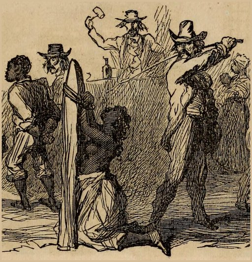 American slaves in bondage as drawn by abolitionists
