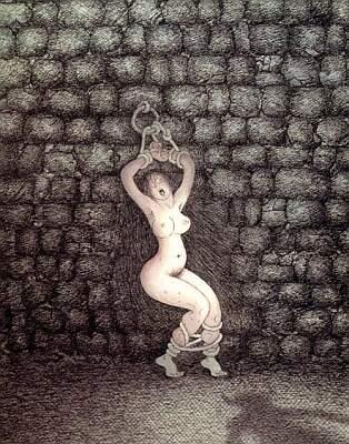 dungeon bondage illustration