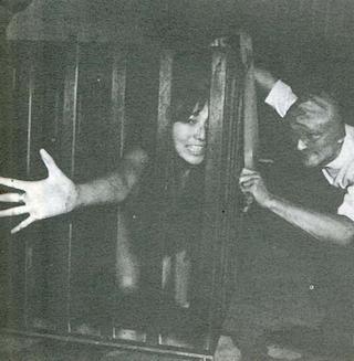 vintage caged girl