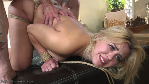 bondage assfucked from behind by tommy pistol in rope bondage