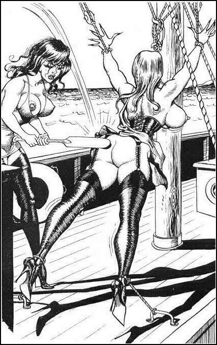 anti gravity bondage and a spanking aboard a yacht boat
