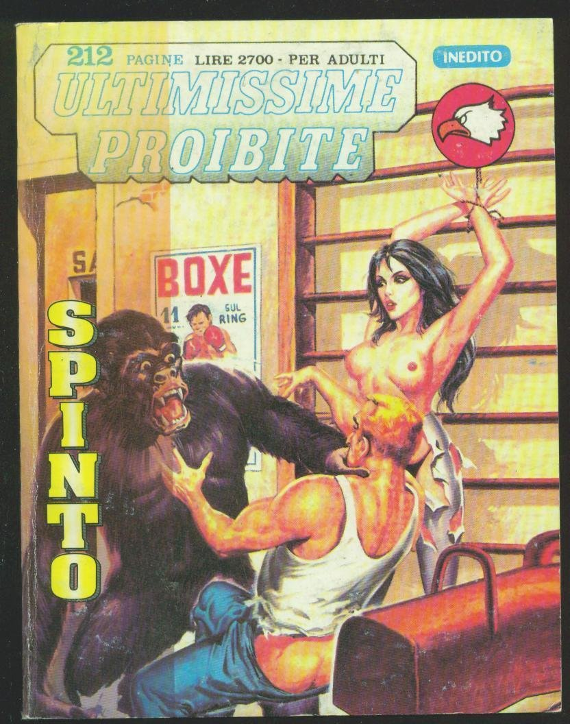attacking gorilla interrupts hot bondage sex in boxing gym