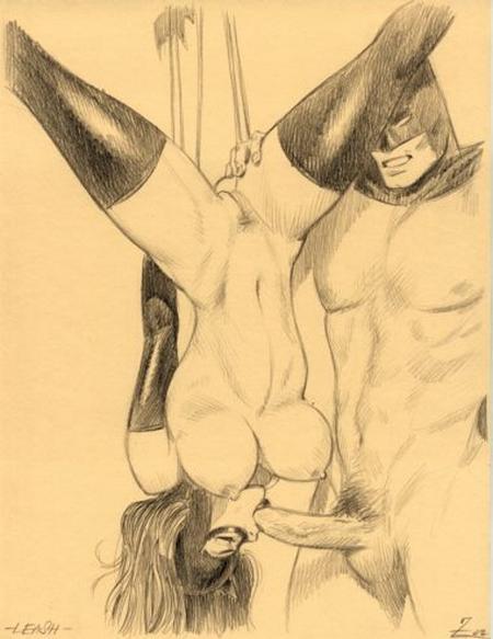 bondage blowjob for Batman