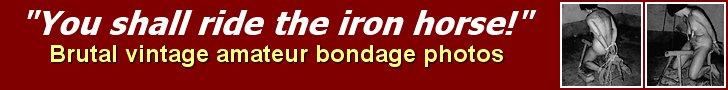Bondage Blog Post: Riding The Iron Horse