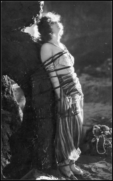 Betty Blythe in vintage movie bondage