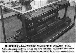 prison birching table