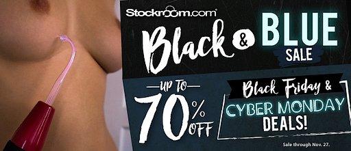 Black Friday stockroom sale banner