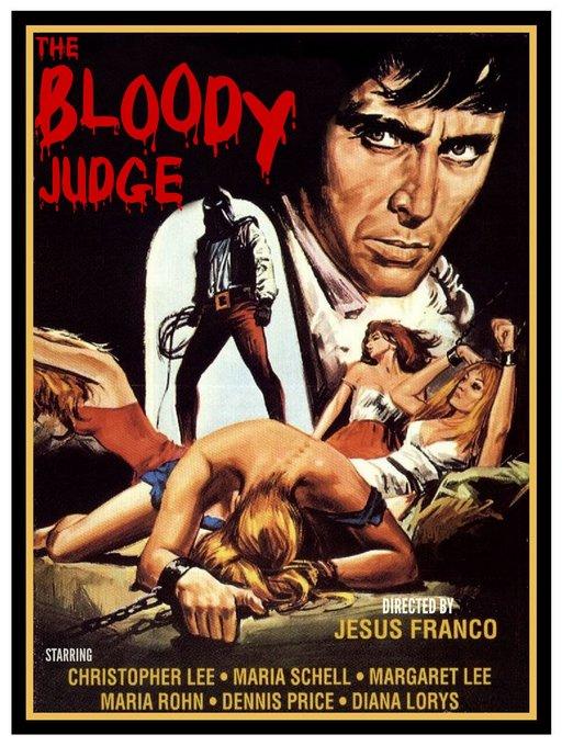 bloody judge lobby card artwork