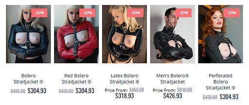 bolero straitjackets discount