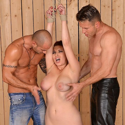 breasts spanked by two hunky men