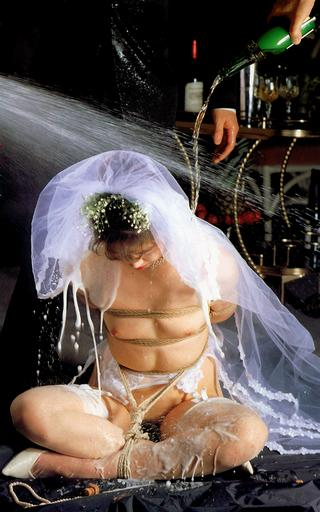 bondage bride drenched and showered