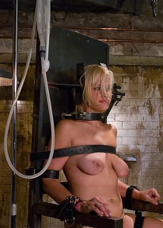locked in the enema chair and desperate to expel
