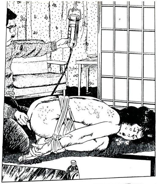 japanese manga bondage enema