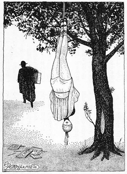 suspended from a tree by the bondage highwayman