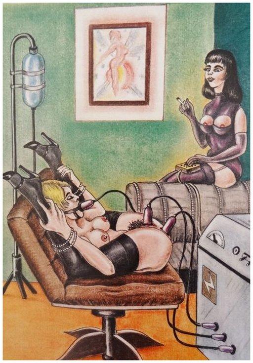 bondage orgasms via electricity