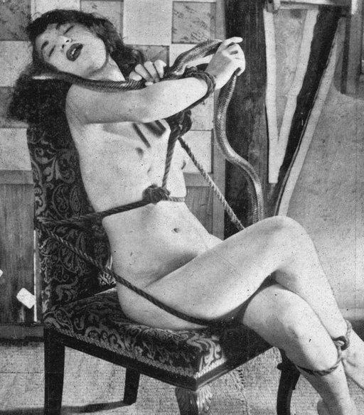 bondage-snake-handling vaudeville act