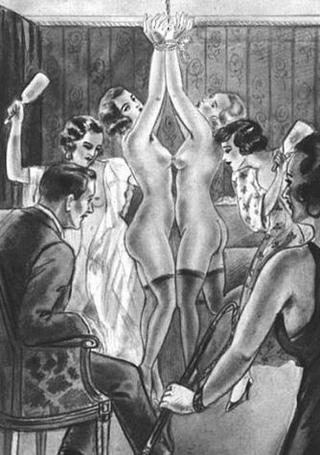 spanking party art