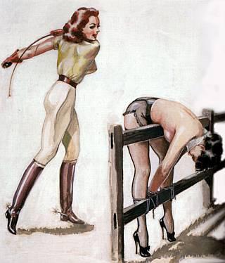 John Willie bondage whipping