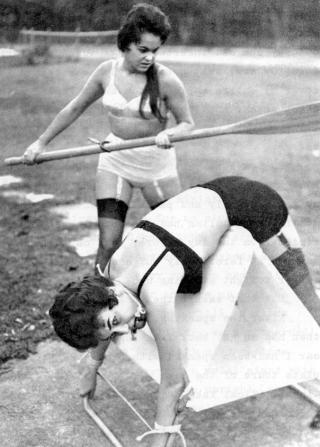 getting an oar spanking