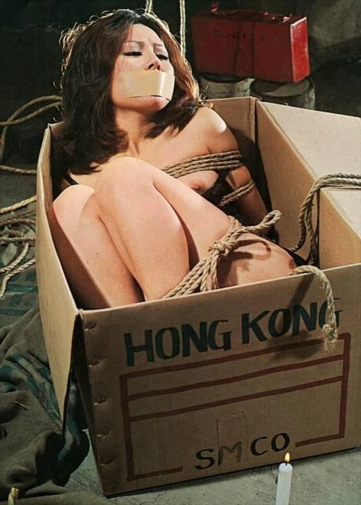 japanese bondage slavegirl in a cardboard box