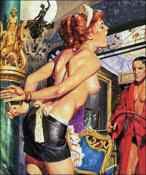 bondage breast whipping of a french maid pulp cover