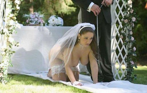 bride-on-leash