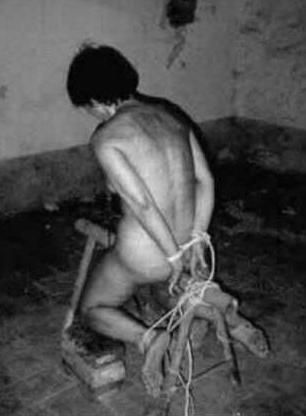 brutal iron bondage horse