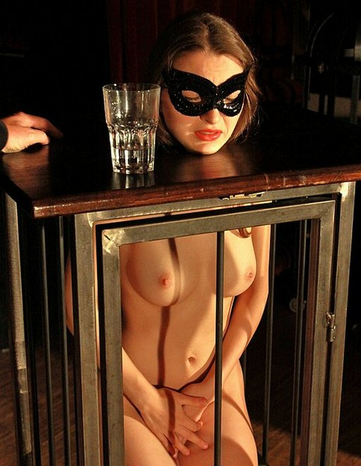 slave girl near tears after she\'s denied a drink of water