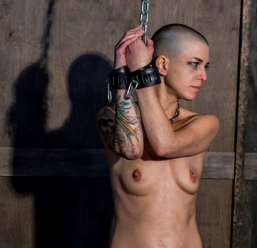 abigail dupree chained naked and helpless with her hands up