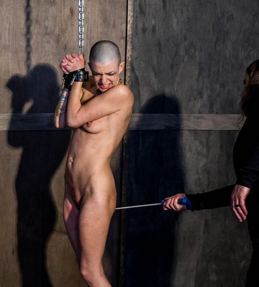 caned in a dungeon