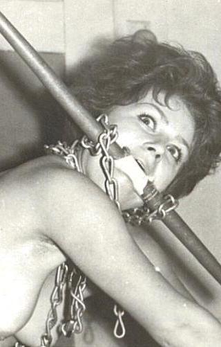 vintage bondage with dog chains