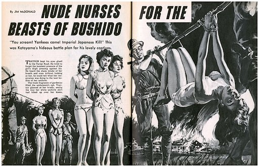 beasts of bushido chain gang nurses jap prisoner carried tied to bamboo pole log stick
