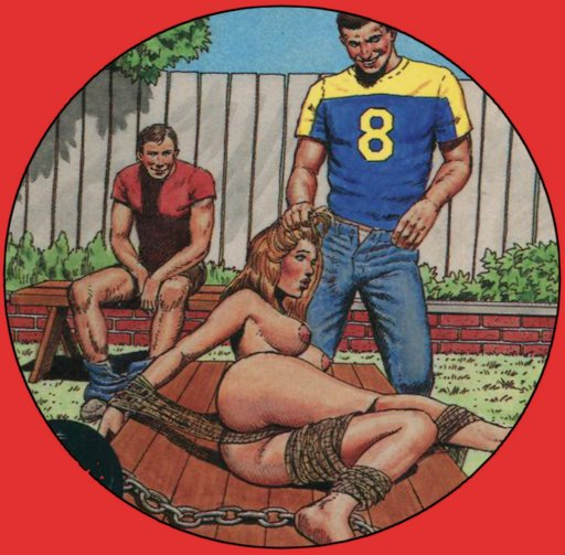 cover art from Chained Cheerleader stroke book