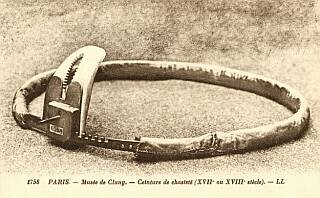 old steel chastity belt