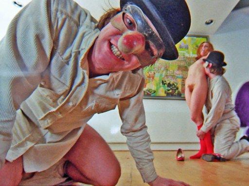 home invasion and implied rape scene in A Clockwork Orange