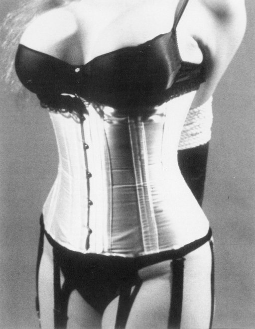 rope bondage and a silk corset
