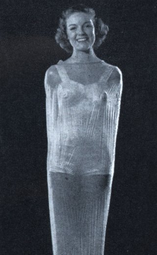girl in a rubber bag
