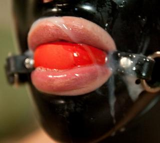 semen coated ball gag