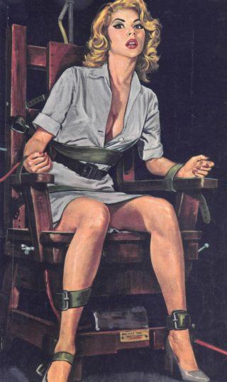 girl in bondage chair