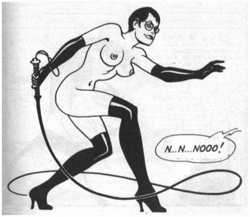 fishnet dominatrix with a whip