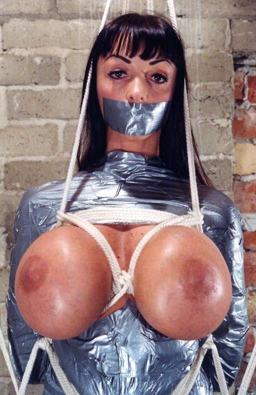 huge boobs, duct taped