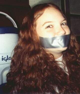 girl gagged with duct tape