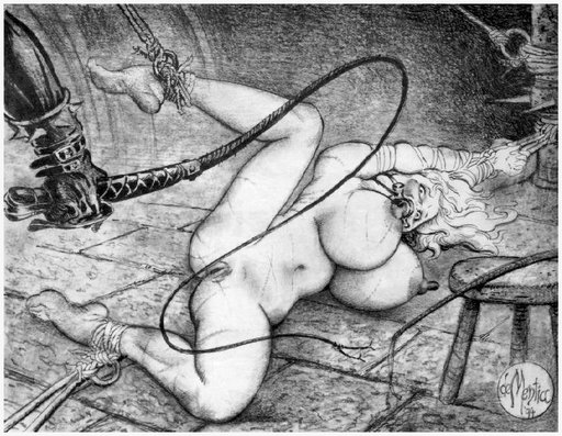 bondage pussy whipping in the dungeon