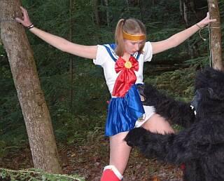 earth defender cosplay girl ravished