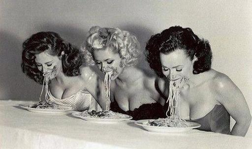 pasta eating contest