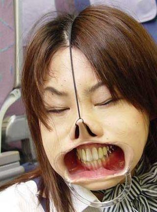distorted face bondage