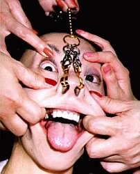 face bondage and finger fishhooks