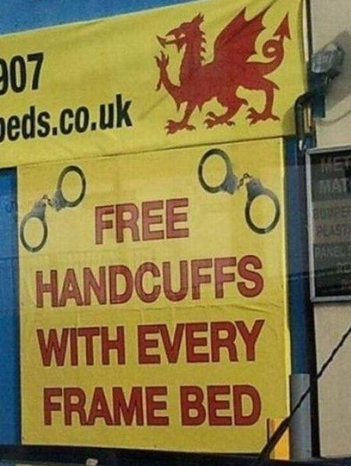 free handcuffs with every bed