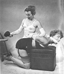 vintage bondage and spanking photo
