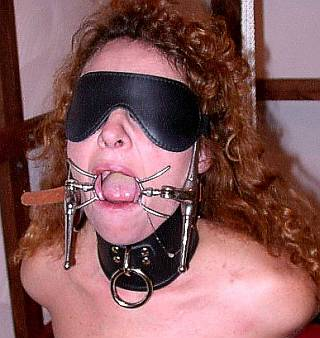 gagged for a bondage blowjob